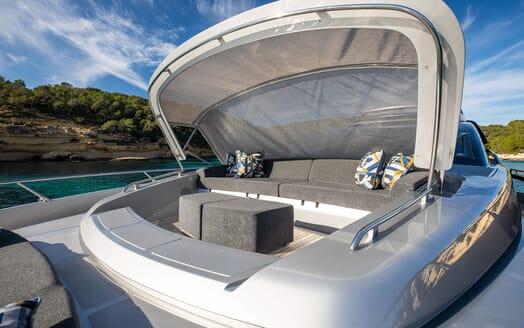 Motor Yacht JULIA S Sun Deck Seating with Shade
