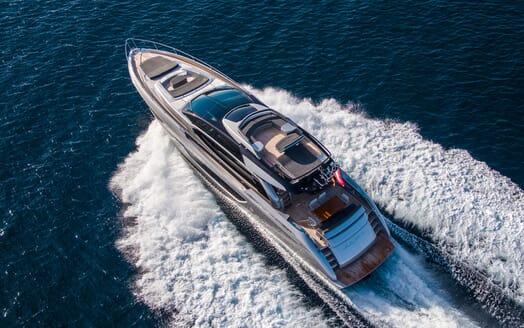 Motor Yacht JULIA S Aerial Underway