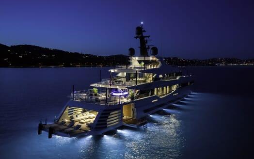 Motor Yacht LEL Evening Exterior