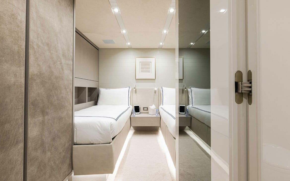 Motor Yacht HALCYON Twin Guest Stateroom