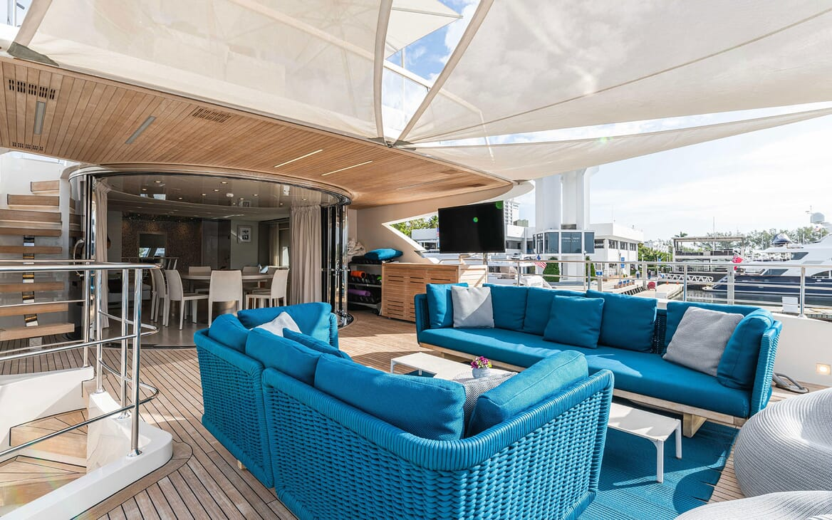Motor Yacht HALCYON Upper Deck Aft