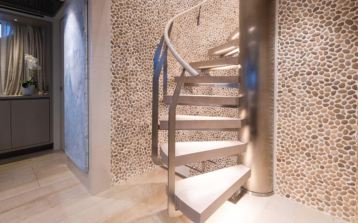 Motor Yacht HALCYON Staircase