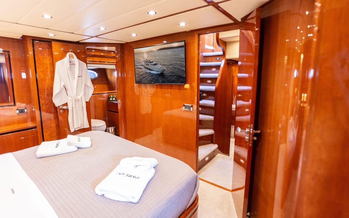 Motor Yacht PAREAKI Master Stateroom to Hallway
