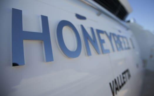 Motor Yacht HONEYBEEZ II Yacht Name on Aft