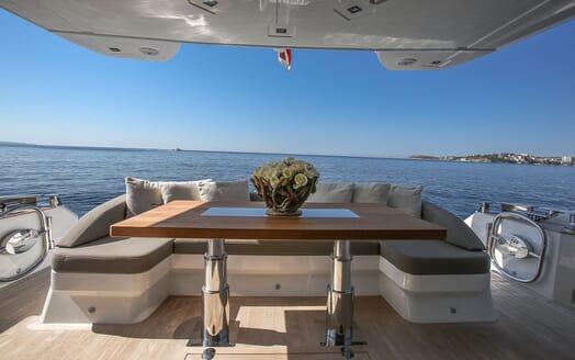 Motor Yacht HONEYBEEZ II Aft View