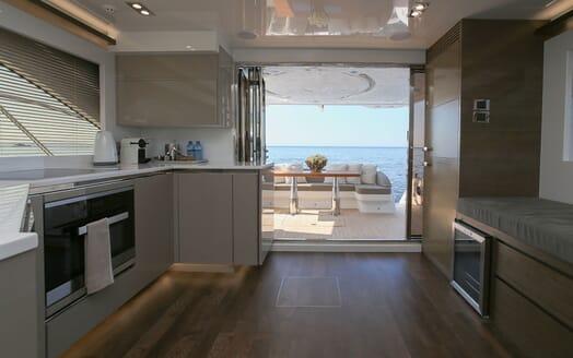 Motor Yacht HONEYBEEZ II Galley to Aft