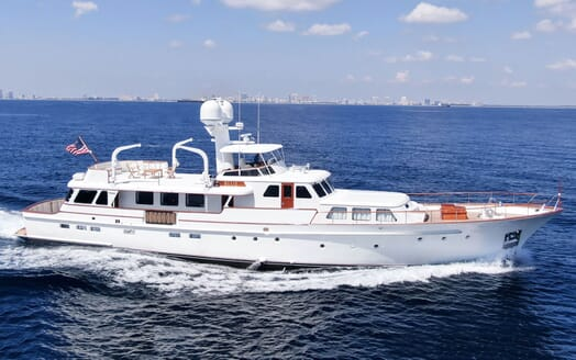 Motor Yacht BLUE Profile Underway