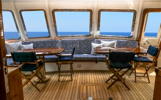 Motor Yacht BLUE Bow Interior Seating