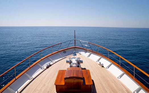 Motor Yacht BLUE Bow View