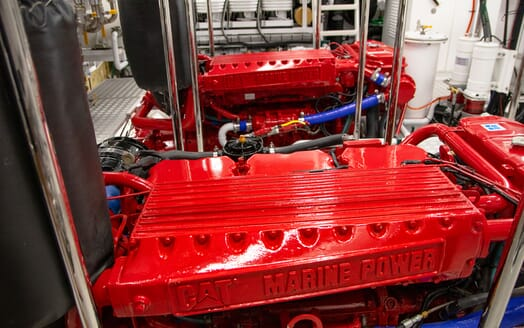 Motor Yacht BLUE Engine Room