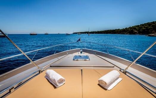 Motor Yacht R Bow looking forward