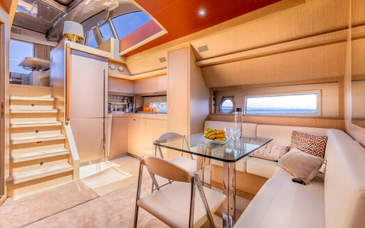 Motor Yacht R Table and Galley