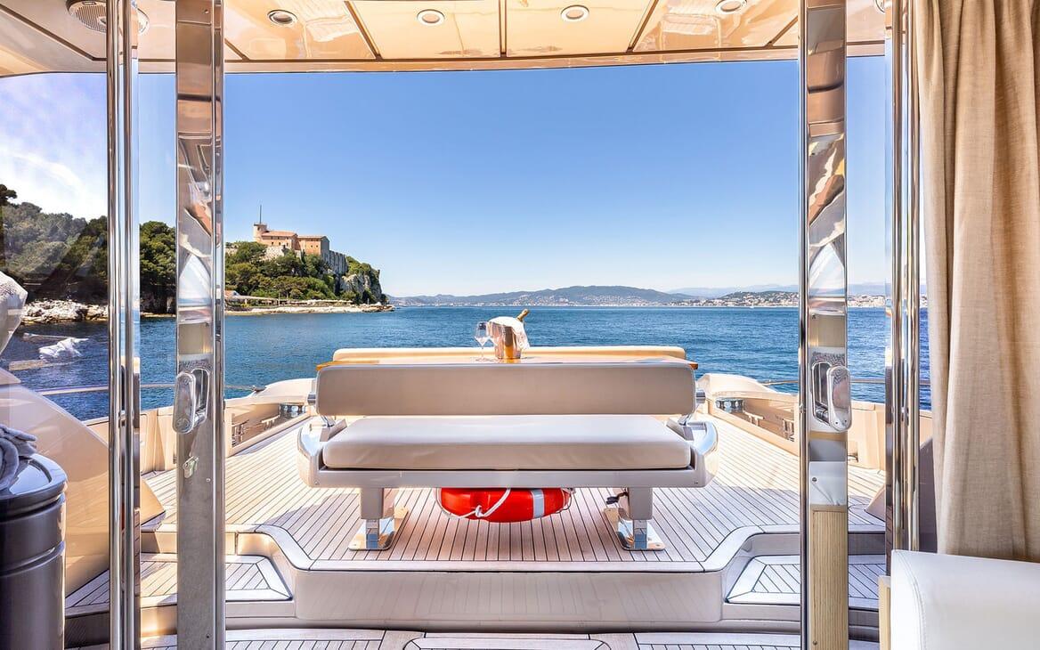 Motor Yacht R Aft Deck