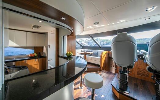 Motor Yacht RUSH X Galley And  Wheelhouse