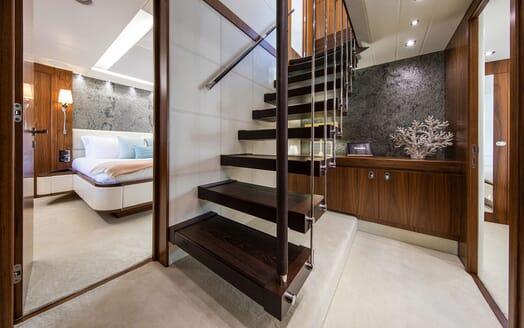 Motor Yacht RUSH X Hallway Stairs
