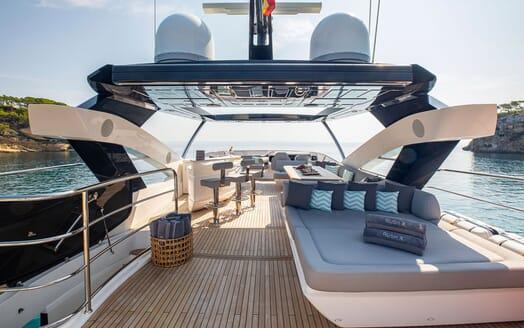 Motor Yacht RUSH X Sun Deck Looking Forward