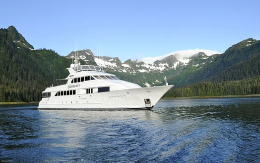 Motor Yacht SERENITY 122 Exterior Bow View