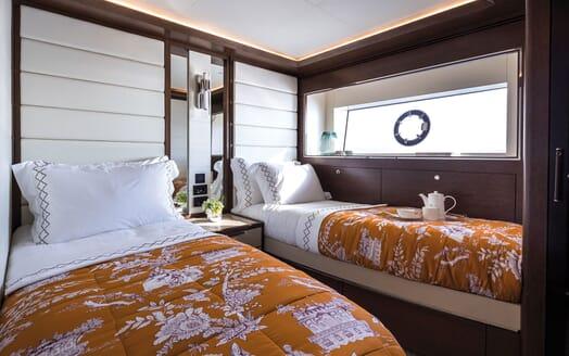 Motor Yacht MOANNA II Twin Guest Stateroom