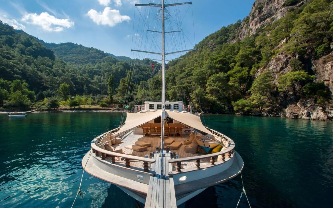 Sailing Yacht TERSANE Bow View