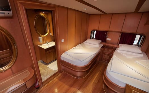 Sailing Yacht TERSANE Guest Twin Stateroom