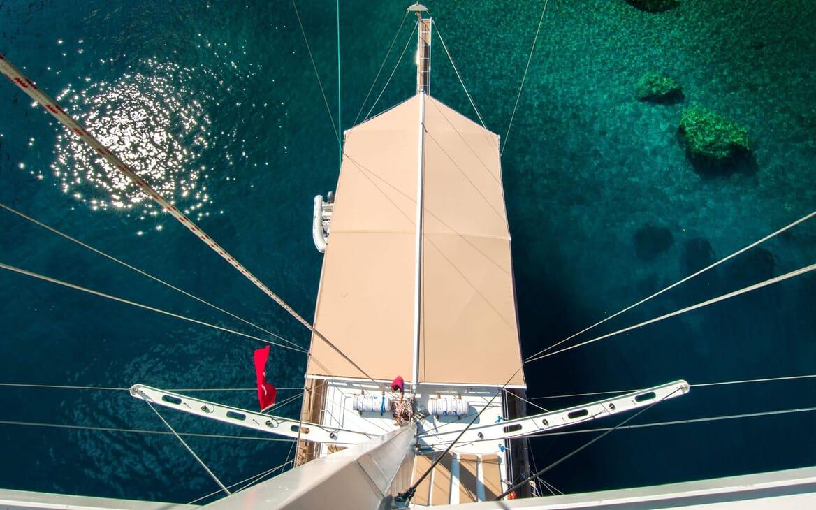Sailing Yacht TERSANE Aerial View