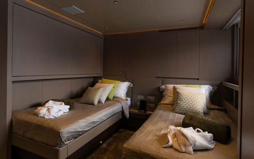 Motor Yacht NOOR II Guest Twin Stateroom