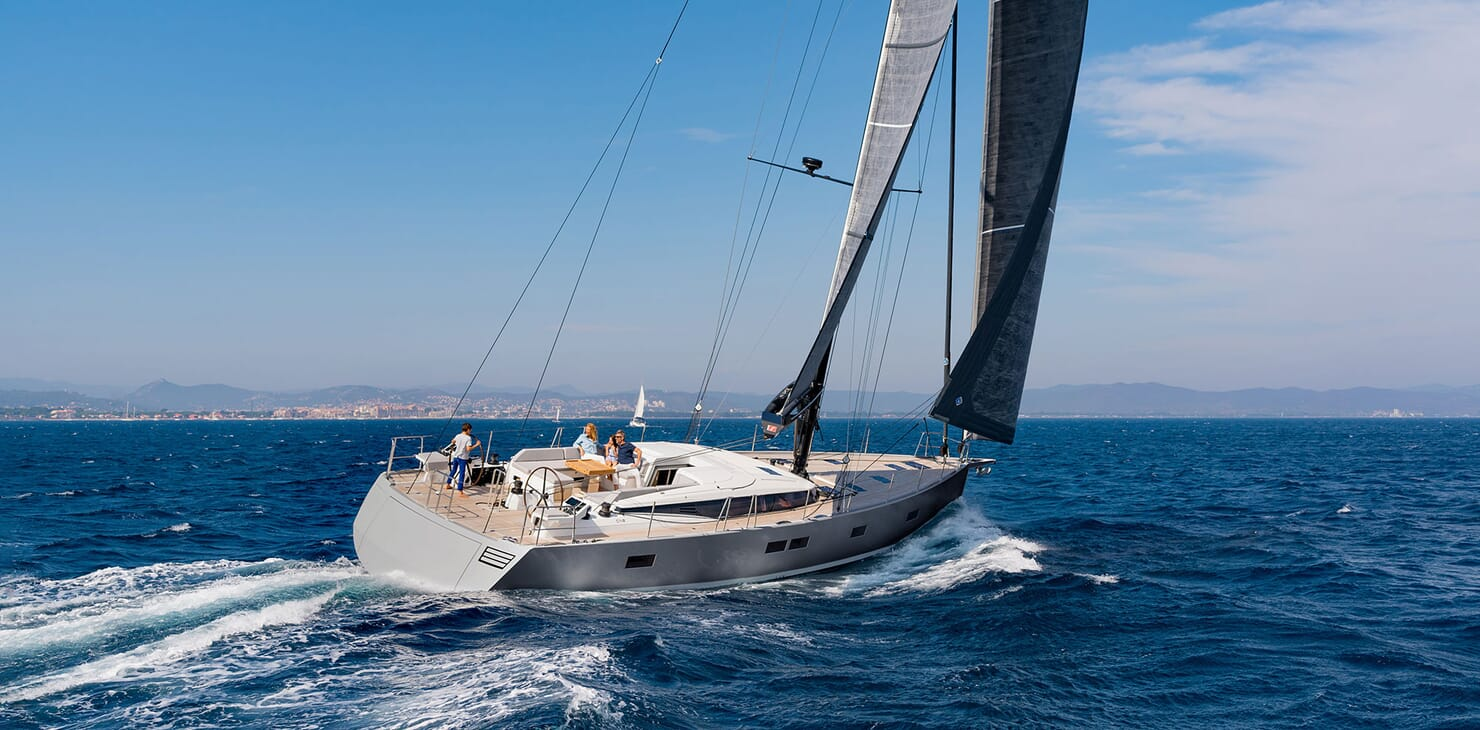 Sailing Yacht CNB 66 Profile Underway