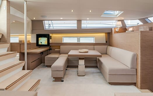 Sailing Yacht CNB 66 Main Saloon and Nav