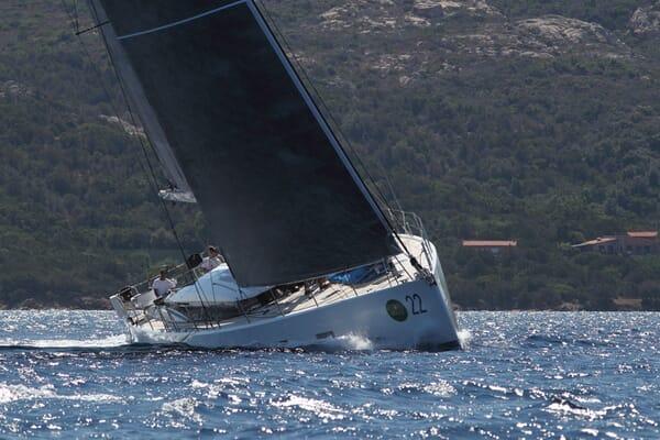 Sailing Yacht ALAMEA Bow Underway