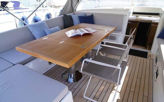 Sailing Yacht ALAMEA On Deck Dining Table