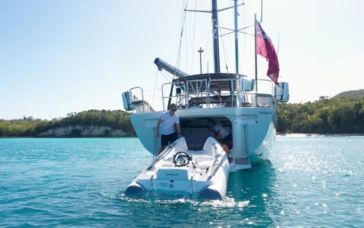 Sailing Yacht CHAMPAGNE HIPPY Tender Unloading