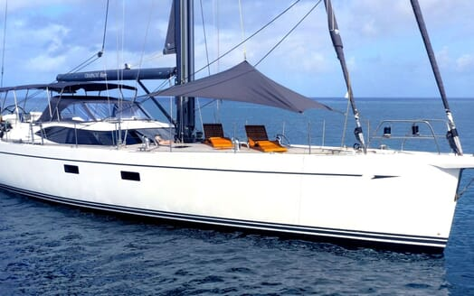 Sailing Yacht CHAMPAGNE HIPPY On Deck Sun Loungers