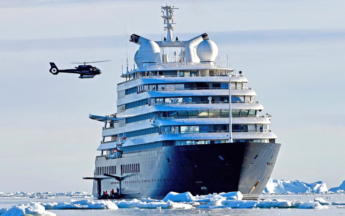 Motor Yacht SCENIC ECLIPSE Helicopter Landing