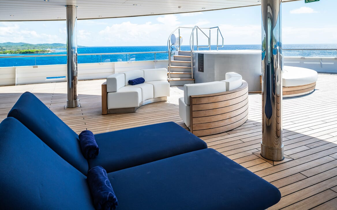 Motor Yacht SCENIC ECLIPSE Sun Deck Sun Loungers