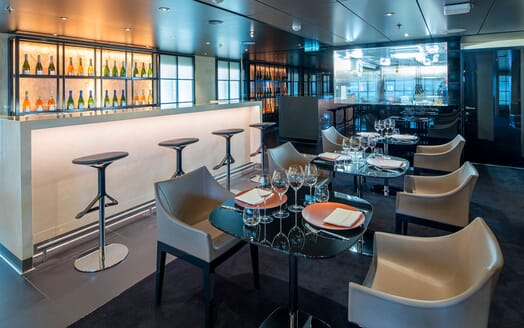 Motor Yacht SCENIC ECLIPSE Private Dining with Bar