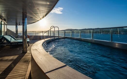 Motor Yacht SCENIC ECLIPSE Aft Deck Pool