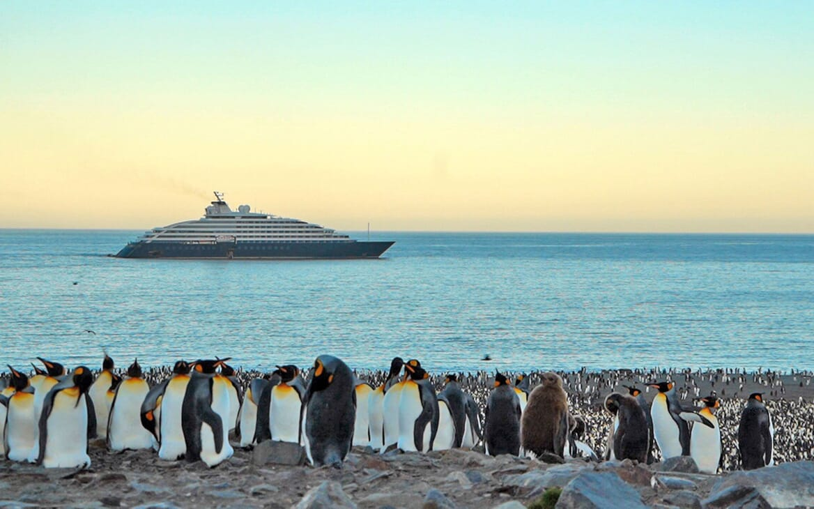 Motor Yacht SCENIC ECLIPSE Profile with Penguins