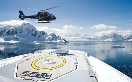 Motor Yacht SCENIC ECLIPSE Helipad Landing