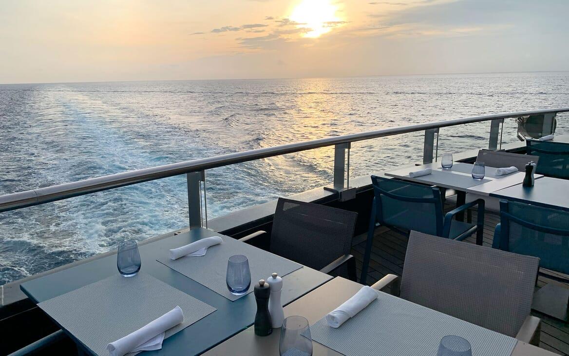 Motor Yacht SCENIC ECLIPSE Sunset Al Fresco Dining