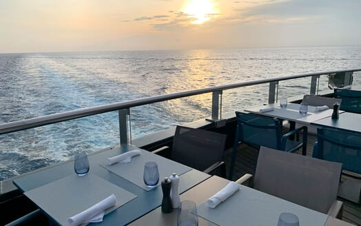 Motor Yacht SCENIC ECLIPSE Sunset Al Fresco Dining