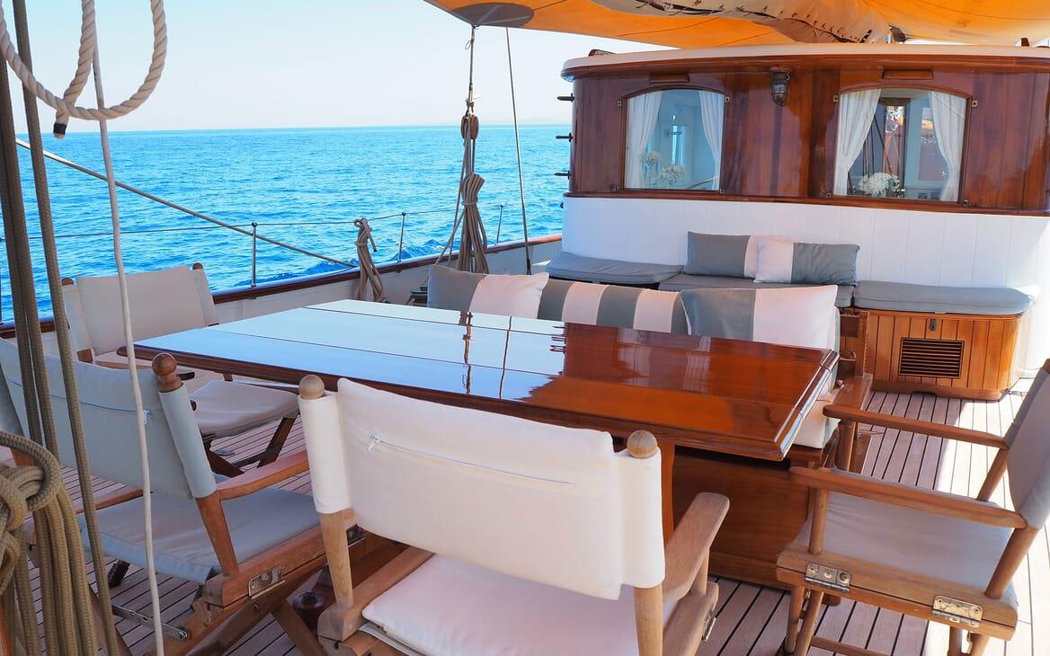 Sailing Yacht IDUNA Deck Table