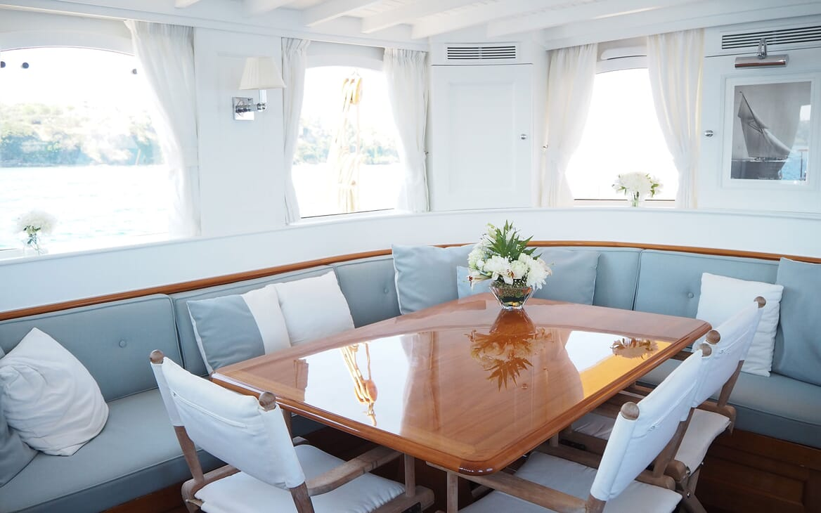 Sailing Yacht IDUNA Interior Seating and Table
