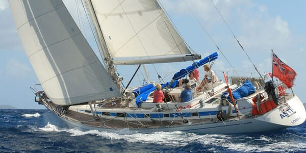 Sailing Yacht ASTRA Aft Underway