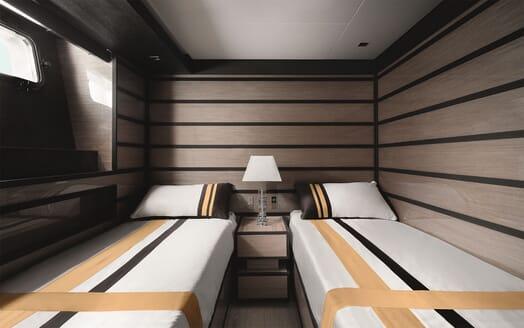Motor Yacht REINE D AZUR Guest Twin Stateroom