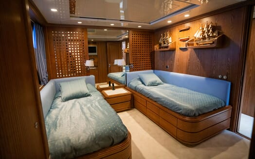 Sailing Yacht LA CATTIVA First Twin Stateroom