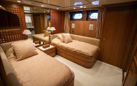 Sailing Yacht LA CATTIVA Second Twin Stateroom
