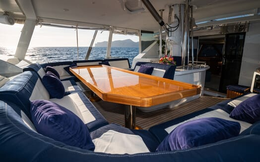 Sailing Yacht LA CATTIVA Aft Deck Table