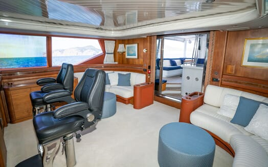 Sailing Yacht LA CATTIVA Wheelhouse Chairs