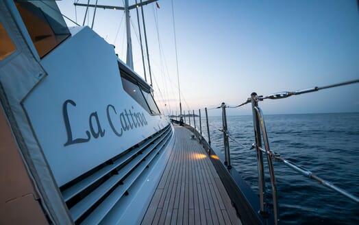 Sailing Yacht LA CATTIVA Walkway