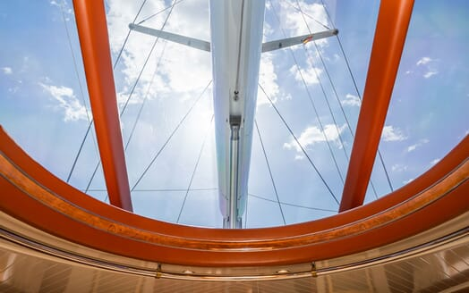 Sailing Yacht LA CATTIVA Glass Ceiling